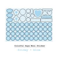 Moon Pancake Mini Sticker Colorful Days Series - Friday