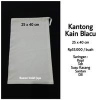 Kantong Kain Blacu 25 x 40 cm , Saringan Kopi. Susu Kacang. Teh. dll