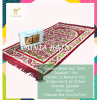 Paket Sajadah Turki + Al-Quran + Tasbih Mutiara + Box Utk Hadiah (CS)