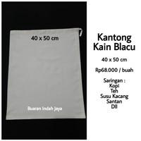 Kantong Kain Blacu 40 x 50 cm , Saringan Kopi, Susu Kacang, Teh. dll