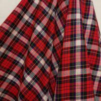 Kain Kotak Semi Wool ( Merah Garis Putih Kuning )