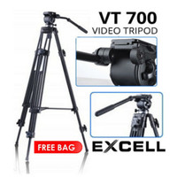 Excell VT700 Video Tripod Professional Penhead VT 700 Stand Shooting