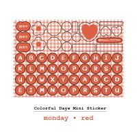 Moon Pancake Mini Sticker Colorful Days Series - Monday