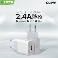 Hippo Cubic Gen 2 Adaptor Charger 2.4A 1 Port Smart Detect Charging