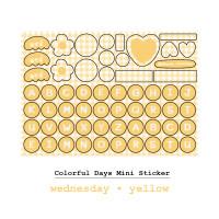 Moon Pancake Mini Sticker Colorful Days Series - Wednesday