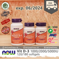 NOW Vitamin Vit D3 - 1000IU/2000IU/5000IU - 1000IU 180caps