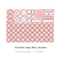 Moon Pancake Mini Sticker Colorful Days Series - Saturday
