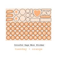 Moon Pancake Mini Sticker Colorful Days Series - Tuesday