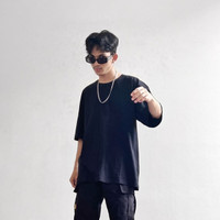 black oversized t-shirt by bare wear - M