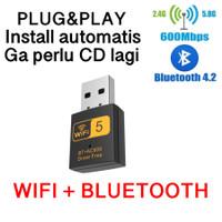 UAC10 USB Wifi Bluetooth Dual Band Wireless AC 2.4Ghz 5Ghz Plug n play