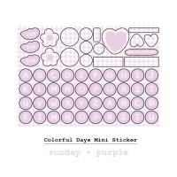 Moon Pancake Mini Sticker Colorful Days Series - Sunday