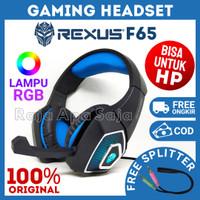 HEADSET REXUS VONIX F65 Gaming Headphone RGB Henset Hedset Handset