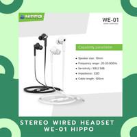 HEADPHONE / STEREO WIRED HEADSET WE-01 BLACK