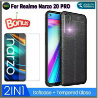 Case Realme Narzo 20 Pro Softcase Free Tempered Glass