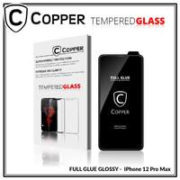 iPhone 12 Pro Max - COPPER Tempered Glass FULL GLUE PREMIUM GLOSSY