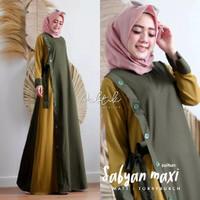 GAMIS MAXY DRESS CANTIK/Sabyan Maxi/Long dress/gamis wanita muslim - Army, S