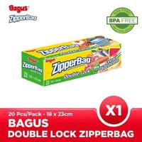 Bagus Double Lock Zipperbag 20 s 18 cm x 23 cm W-21454