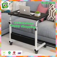 Meja Lipat Laptop Portable Adjustable Dengan Roda Meja Kerja