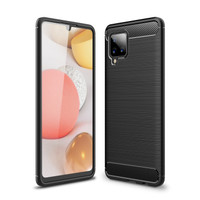 SS16808 - BRUSHED TPU COMBINATION CASE GALAXY A42 5G BLACK