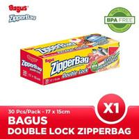 Bagus Double Lock Zipperbag 30 s 17 cm x 15 cm W-21450