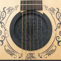 Penutup lubang suara gitar anti feedback sound hole guitar cover