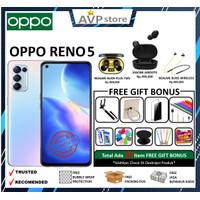 Oppo Reno 5 8/128GB Garansi Resmi - FANTASY SILVER, NOGIFT+ASURANSI