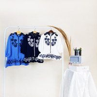 Atasan Sweater Anak Perempuan / Baju Blouse Anak Perempuan Cewek - B - Navy, 3-4 tahun