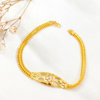 Gelang Love Cristal Wanita Korea Jewellery Hadiah Teman Gold Emas asli