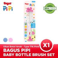 Bagus Pipi Sponge Baby Bottle Nipple Brush Set Sikat Botol Bayi 716