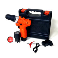 XENON CDD500 Mesin Bor Cordless Drill 2 Baterai Charger Cas