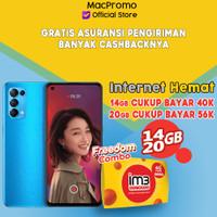 OPPO Reno 5 8/128GB Bundle Indosat Garansi Resmi Oppo