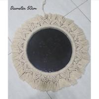 cermin wall decor hiasan dinding home decor juju hat cermin home