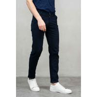Celana Panjang chino slim fit navy blue chino pants bahan stretch