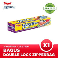 Bagus Double Lock Zipperbag 15 s 25 cm x 35 cm W-21453