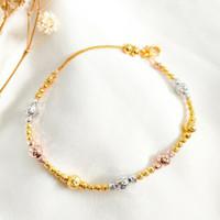 Gelang bola Cristal Wanita Korea Jewellery Hadiah Teman Gold Emas asli