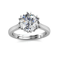 Le Fond Ring - Cincin Moissanite diamond Celesta by Her Jewellery