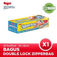 Bagus Double Lock Zipperbag 25 s 18 cm x 20 cm W-21451