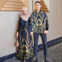 wa baju couple gamis kemeja batik busana muslim fashion pria wanita