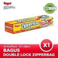 Bagus Double Lock Zipperbag 20 s 27 cm x 28 cm W-21452