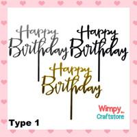 Cake Topper Happy Birthday Sign Hiasan Cake Dekorasi Kue