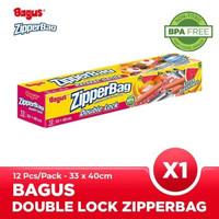 Bagus Double Lock Zipperbag 12 s 33 cm x 40 cm W-21455