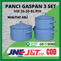 Panci Gaspan 3 Set HM 26-30 Blirik / Panci Burik / Panci Lurik