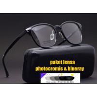 Kacamata Anti radiasi | kacamata lentur | frame Kacamata minus 2090 c1 - Hitam, frame saja