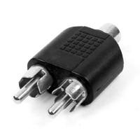 Splitter 1 RCA Female to 2 RCA Male Cabang Pembagi RCA 1F-2M Adapter