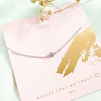 Gelang simple permata Putih Wanita Korea Hadiah Teman Gold Emas asli