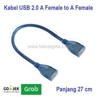 Kabel USB 2.0 Female to Female USB Cewek Cewek type AF to AF Blue