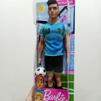 Barbie Ken Soccer Player Doll - Mainan Boneka Anak Perempuan original