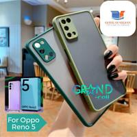 Case Matte Oppo Reno 5 2020 Casing Aero Hardcase with Protect Camera