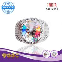 Cincin Batu Kalimaya India Full Luster Multicolor