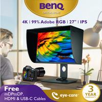 Monitor 4K BenQ SW271 27inch 99% Adobe RGB IPS Pro Fotografer Desainer